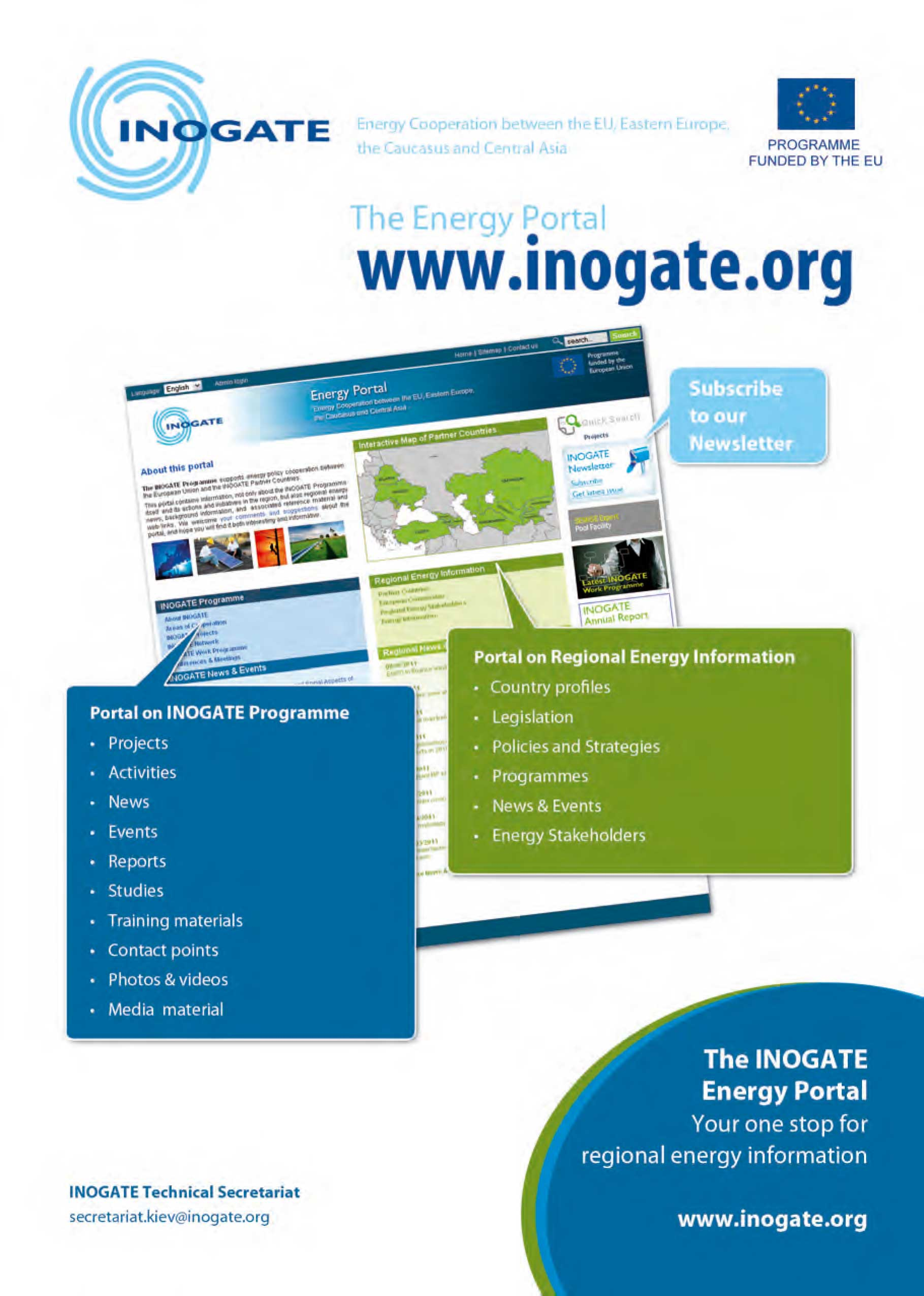 New INOGATE web portal flyer – Web Flyer